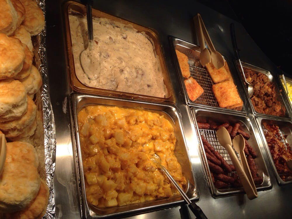 Photo of Wood Grill Buffet - Norwalk, CA, United States. Bacon, sausages - Bacon, Sausages, Hash Browns, Biscuits, Gravy With Sausages