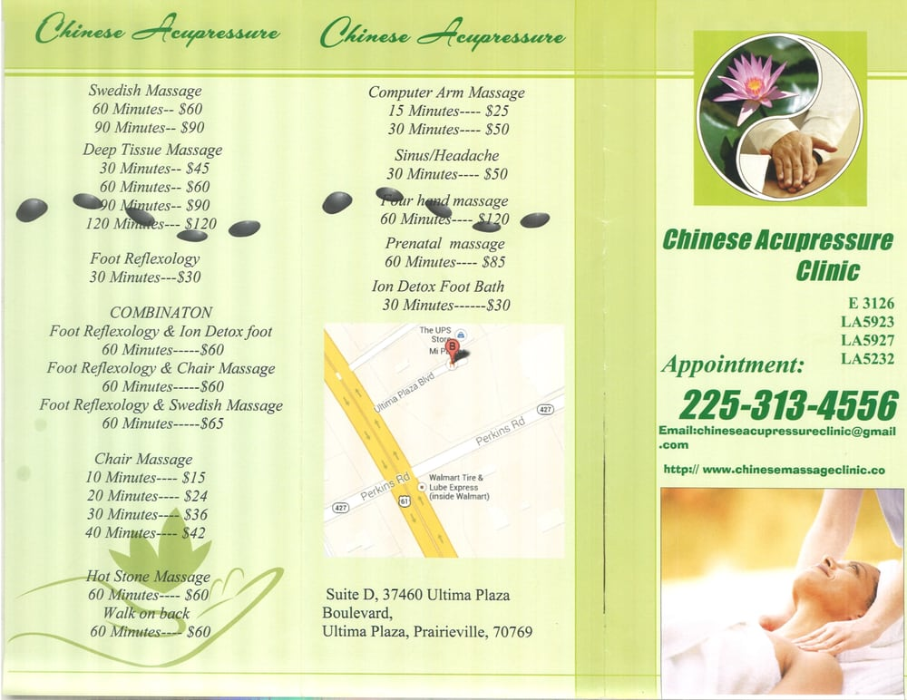 Chinese Acupressure Clinic - Massage Therapy - 37460 ...