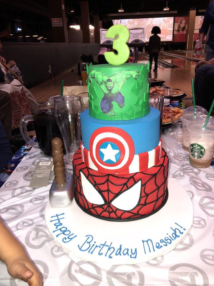 3rd birthday cake Hulk Captain America and SpiderMan Yelp