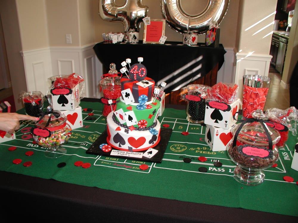 Casino Themed Candy Buffet