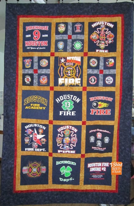 Houston Fire Department T Shirt Quilt Yelp