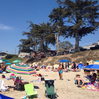 Photo Of Sunny Cove Beach Santa Cruz Ca United States People Lounging