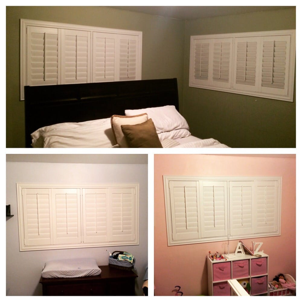 Plantation shutters look good in any type room or with any for Decorating with plantation shutters