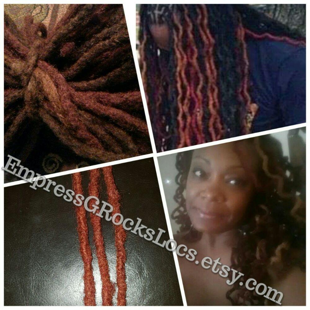Custom Handmade Human Hair Dreadlock Extensions Faux Locs And
