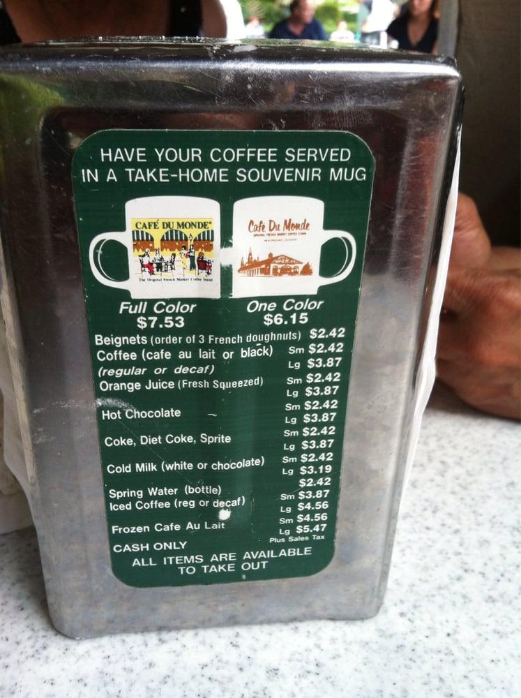Cafe Du Monde Menu And Prices