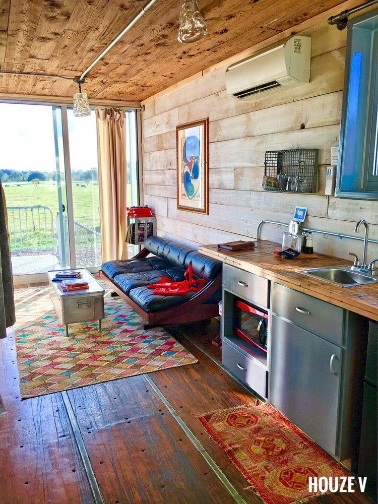 Flophouze Shipping Container Hotel: 1132 Fm 1291 N, Round Top, TX