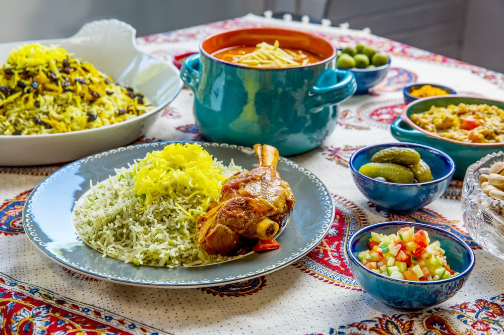 Food from Rumi Persian Cafe