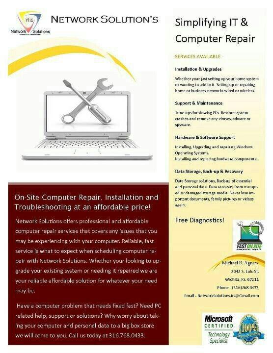 Network Solutions: 2042 S Lulu, Wichita, KS