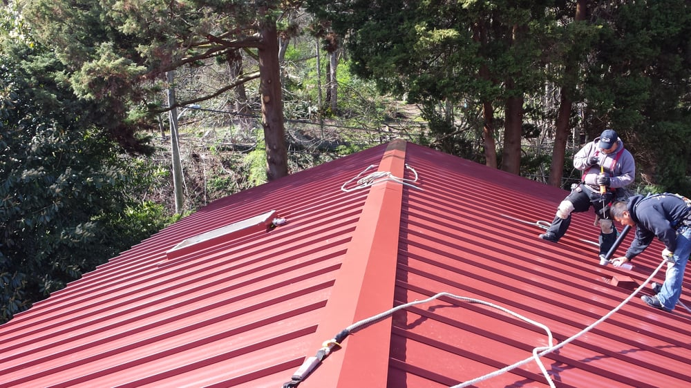 Colonial Red Standing Seam Metal Yelp
