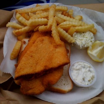 Photo Of Keyport Fishery Nj United States Fried Flounder Sandwich Without