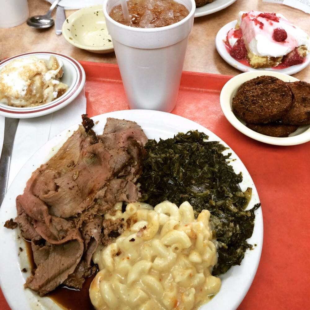 Meat And Three Heaven: Roast Beef With Jus; Mac N' Cheese