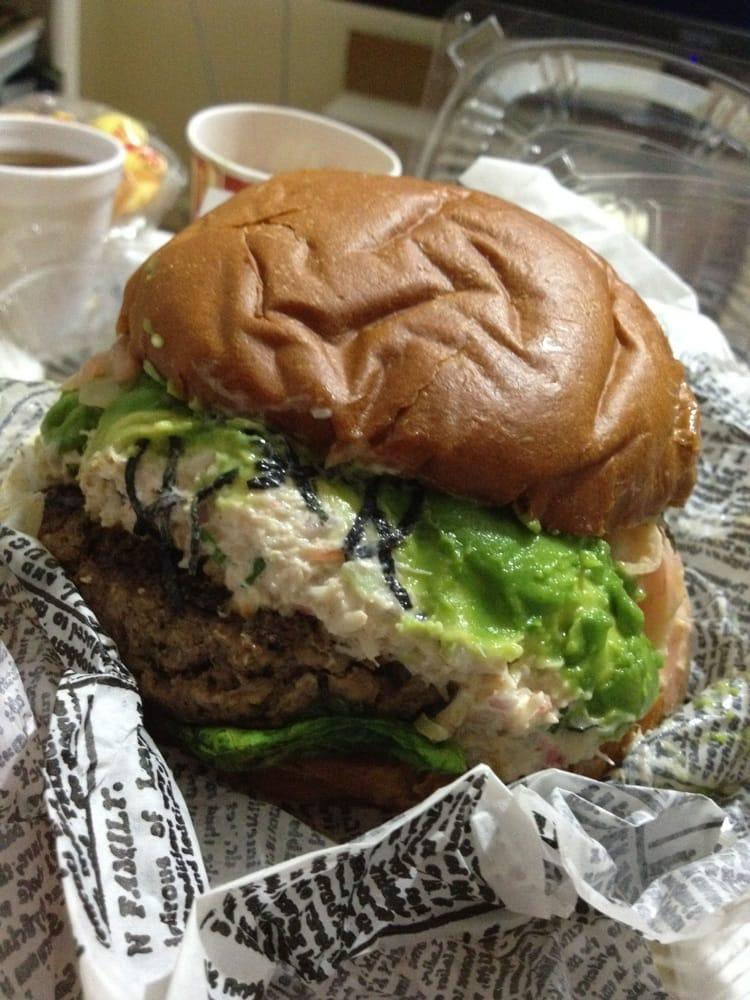 ... Beach Restaurant - Venice, CA, United States. California roll burger