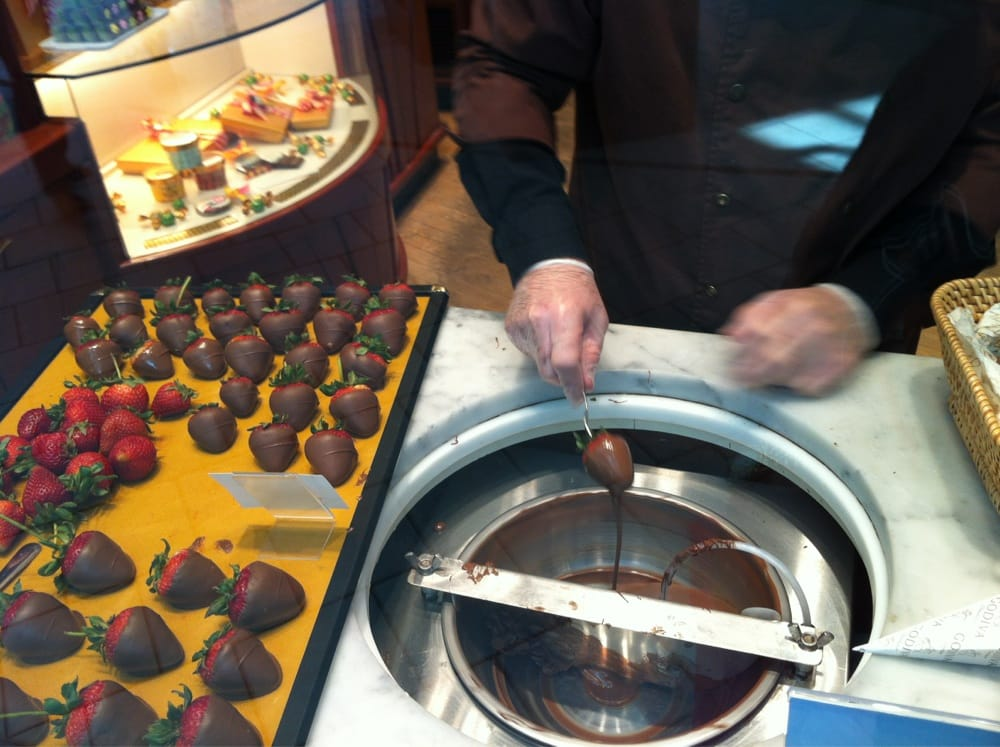 The Making Of Chocolate Covered Strawberries Yelp