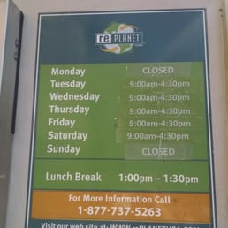 Food  Less Recycling Center Hours