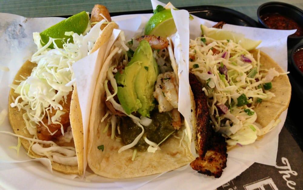 Coastal trio tacos fish taco shrimp and blackened for Rubio s coastal grill the original fish taco