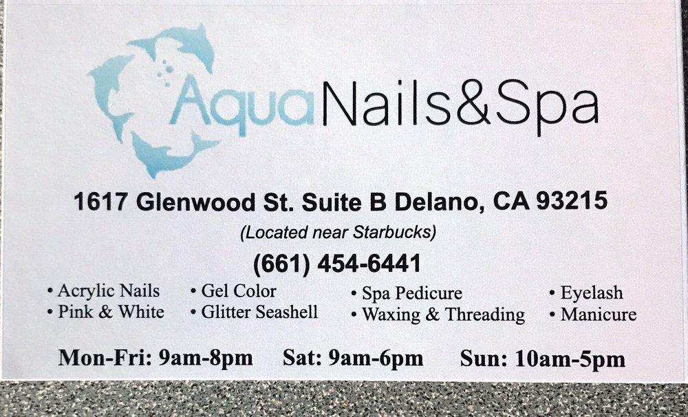 Aqua Nails & Salon: 1617 Glenwood St, Delano, CA