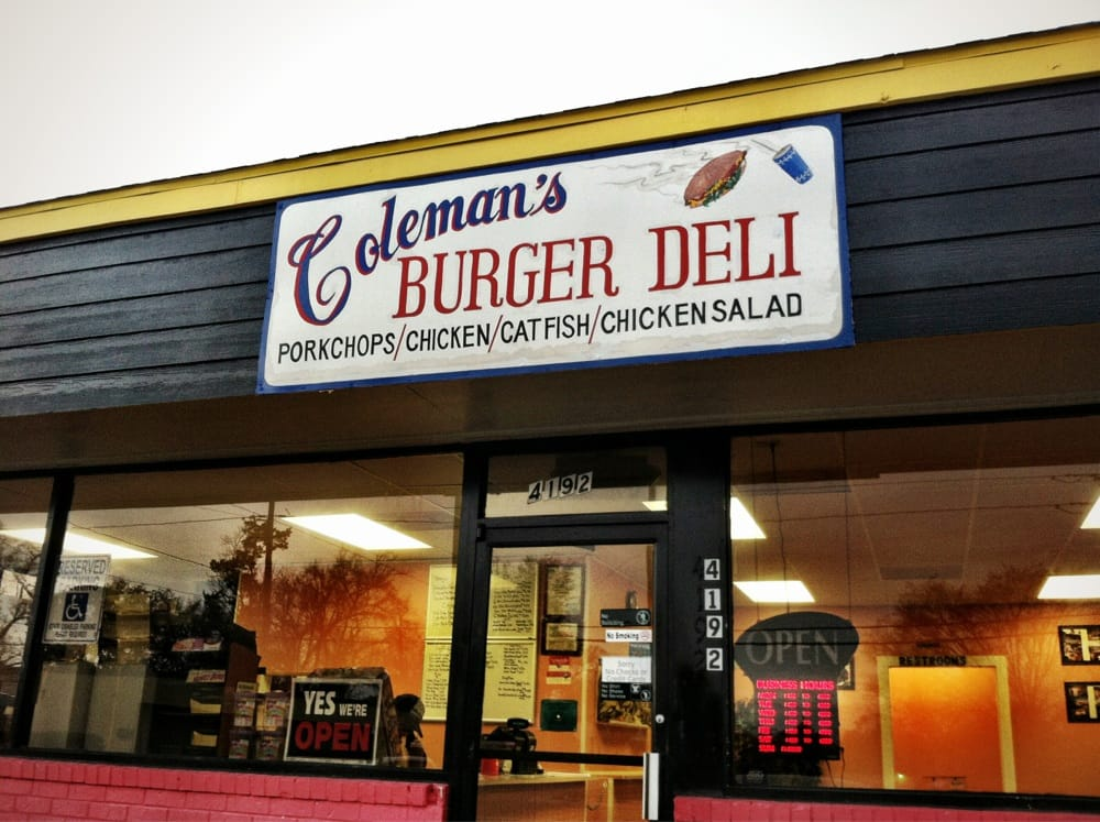 Coleman's Burger Deli: 4192 Highland Ave, Beaumont, TX