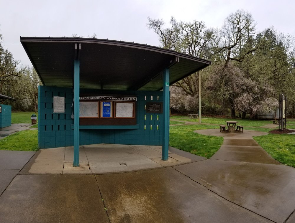 Cabin Creek Rest Area: Pacific Hwy, Oakland, OR