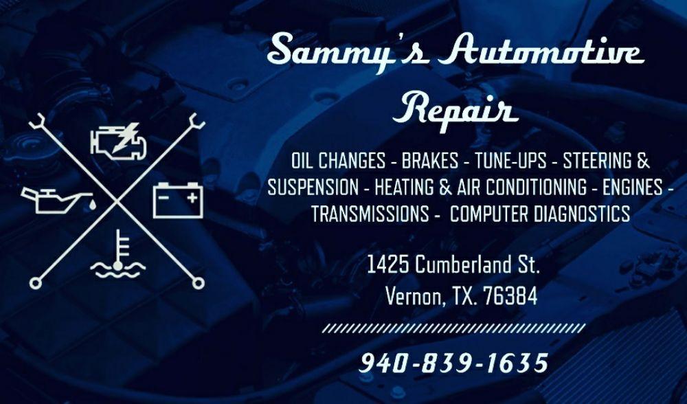 SAMMY'S AUTOMOTIVE REPAIR: 1425 Cumberland St, Vernon, TX