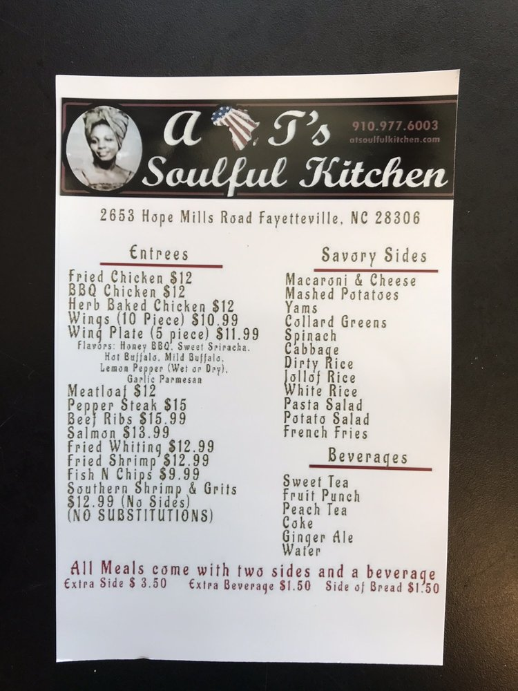 A&T's Soulful Kitchen: 2653 Hope Mills Rd, Fayetteville, NC
