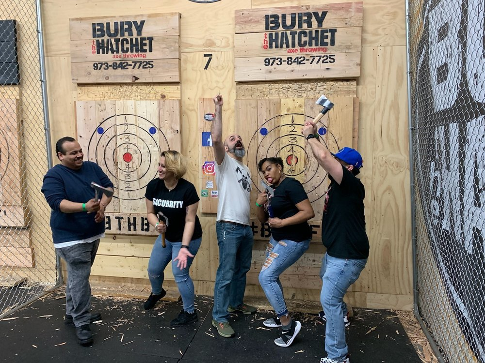 Social Spots from Bury The Hatchet Axe Throwing- Bloomfield