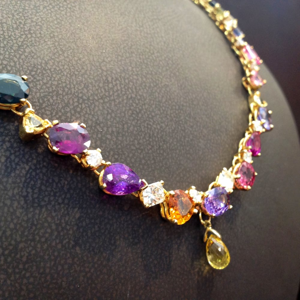 tom castor necklace hand crafted with a collection of