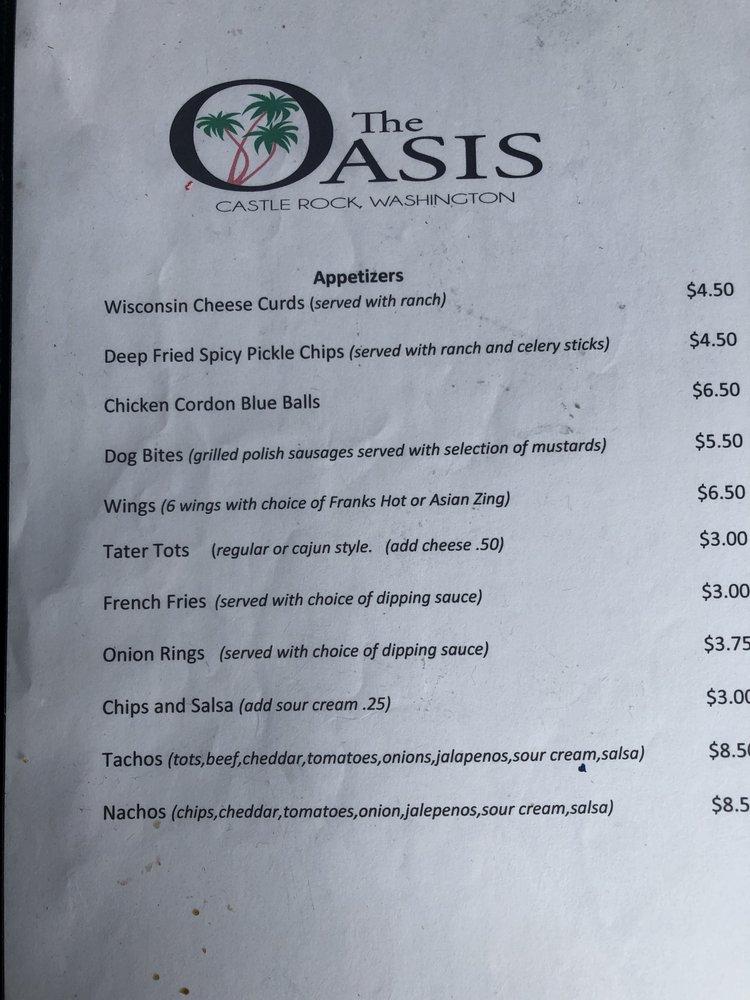 The Oasis Bar: 123 Front St, Castle Rock, WA