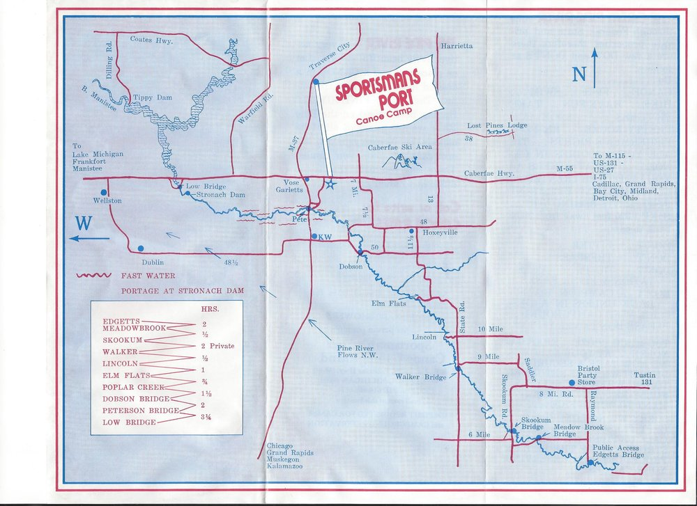 Sportsman's Port Canoe Rental: 10487 W M-55, Wellston, MI