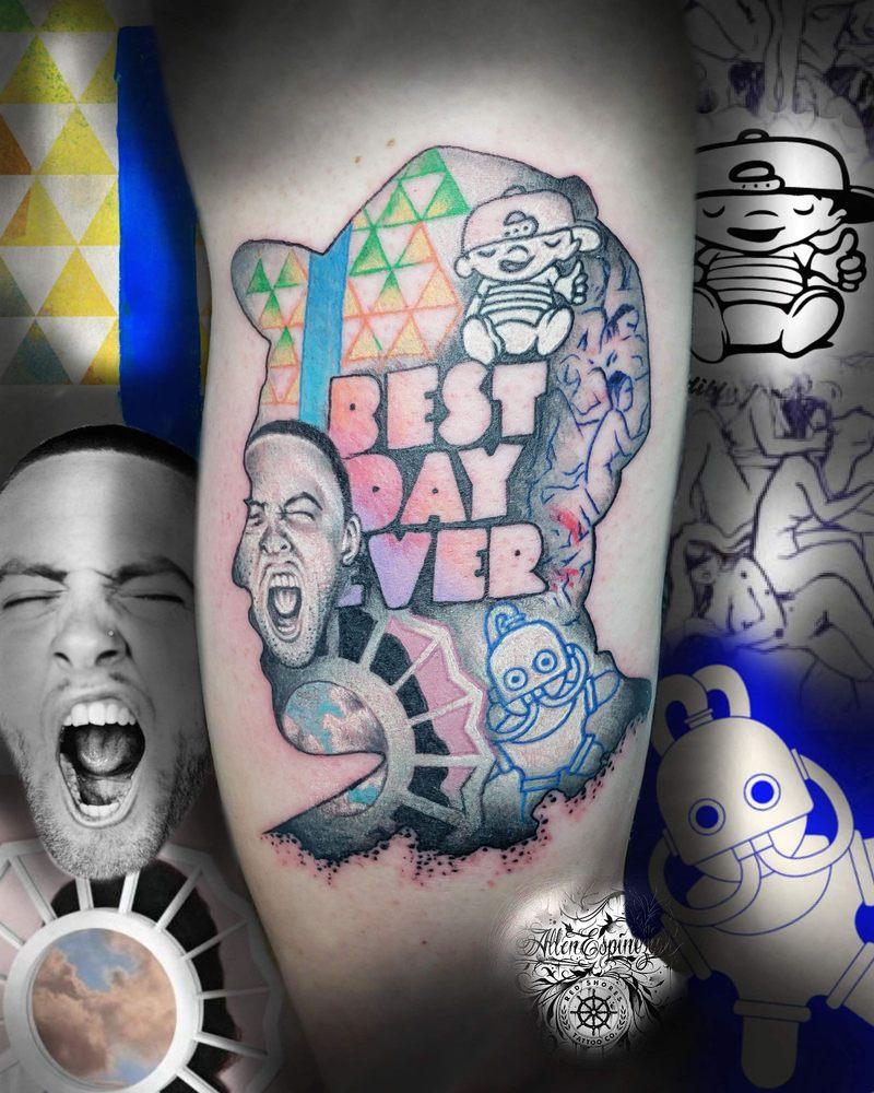 Mac Miller Tribute Tattoo: Mac Miller Tribute By Allen Espinoza!