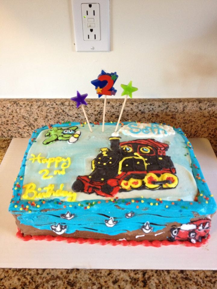 Planes Trains And Automobiles Birthday Cake For Two Year Old