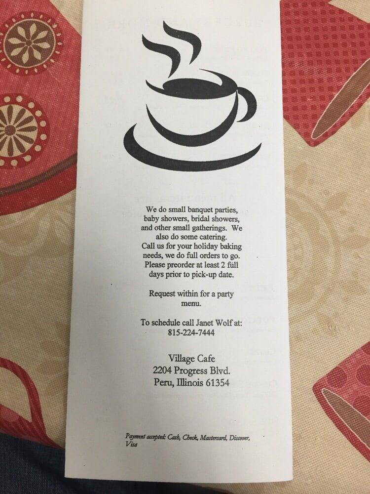 Village Cafe: 4407 Progress Blvd, Peru, IL