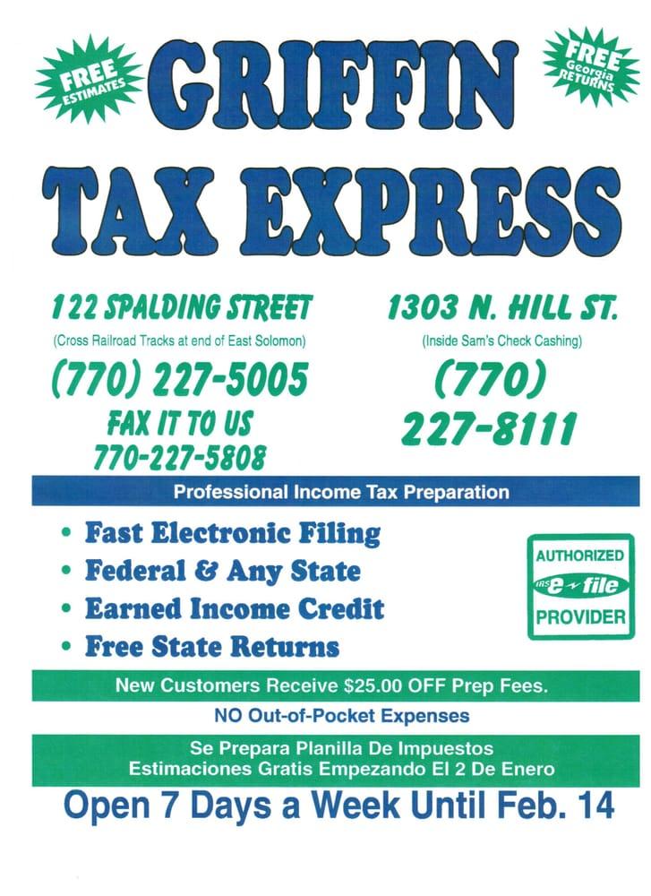 Griffin Tax Express: 122 Spalding St, Griffin, GA