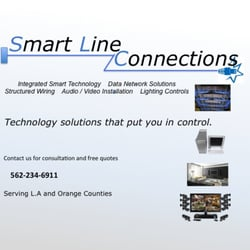 Smart Line Connections - Home Theatre Installation - 1903 Temple Ave ...