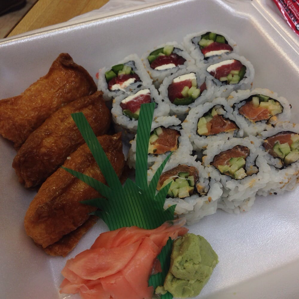 12 for inari ninja roll and spicy salmon roll yelp for Lawrence fish market