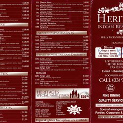Reviews For Heritage Indian Restaurant Heidelberg