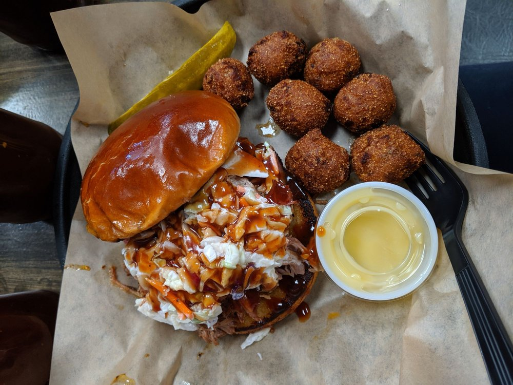 Food from PorkChop & Bubba's BBQ