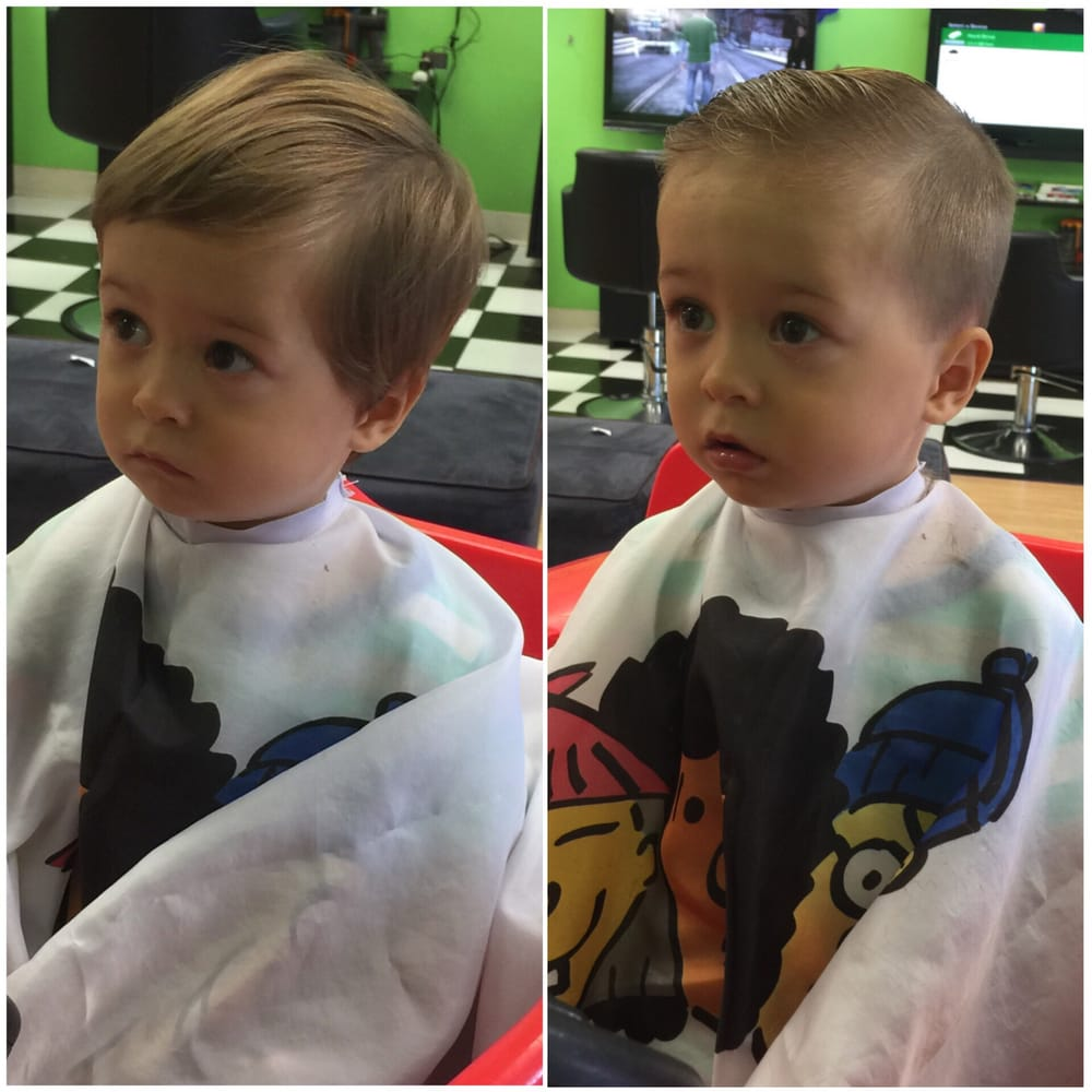 Photo of Sharkey's Cuts for Kids - Oceanside, CA, United States. First haircut