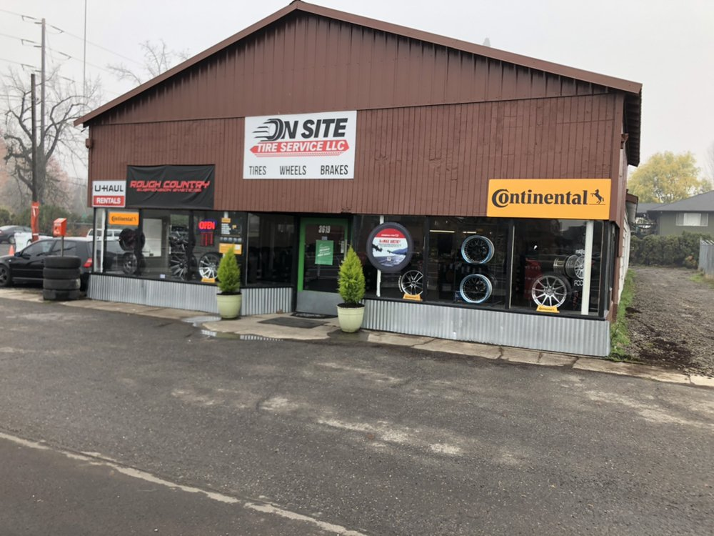 The front of our shop in Forest Grove, we are a Continental Tire