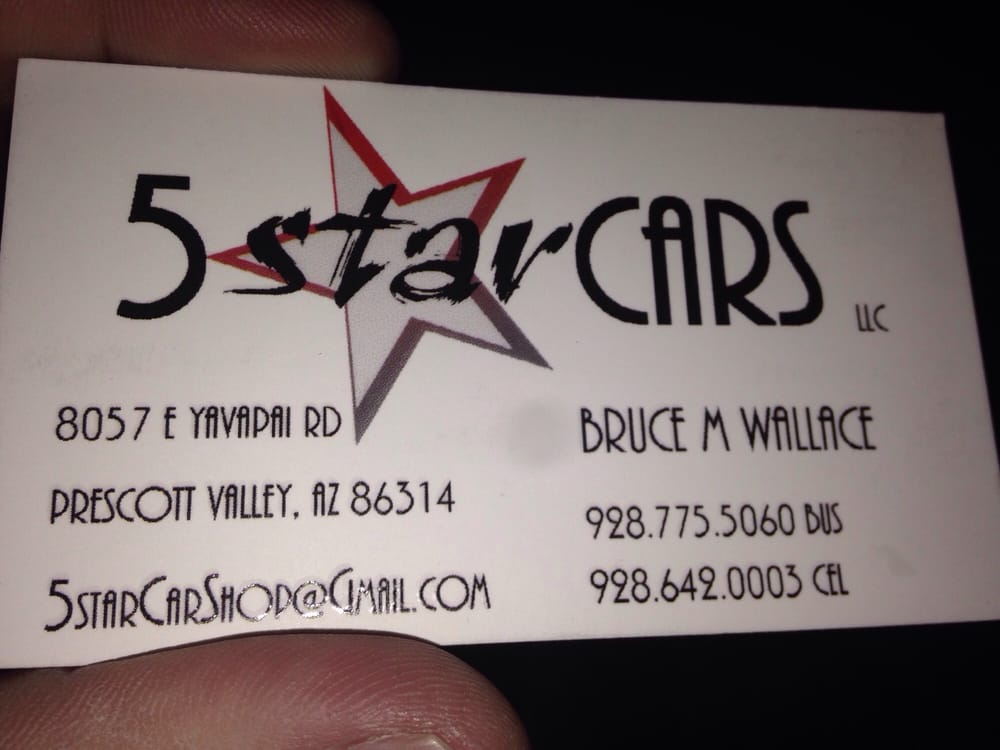 Five Star Cars: 8057 E Yavapai Rd, Prescott Valley, AZ