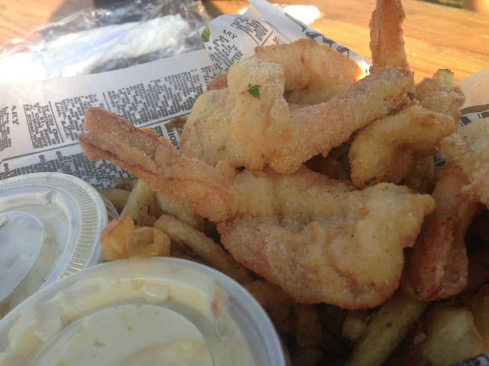 Fried shrimp basket yelp for Southold fish market
