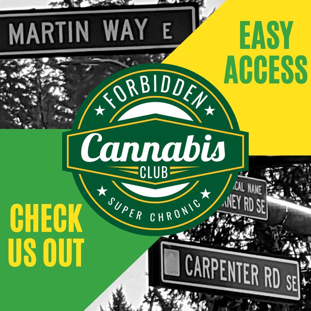 Forbidden Cannabis Club - Lacey: 6326 Martin Way E, Lacey, WA