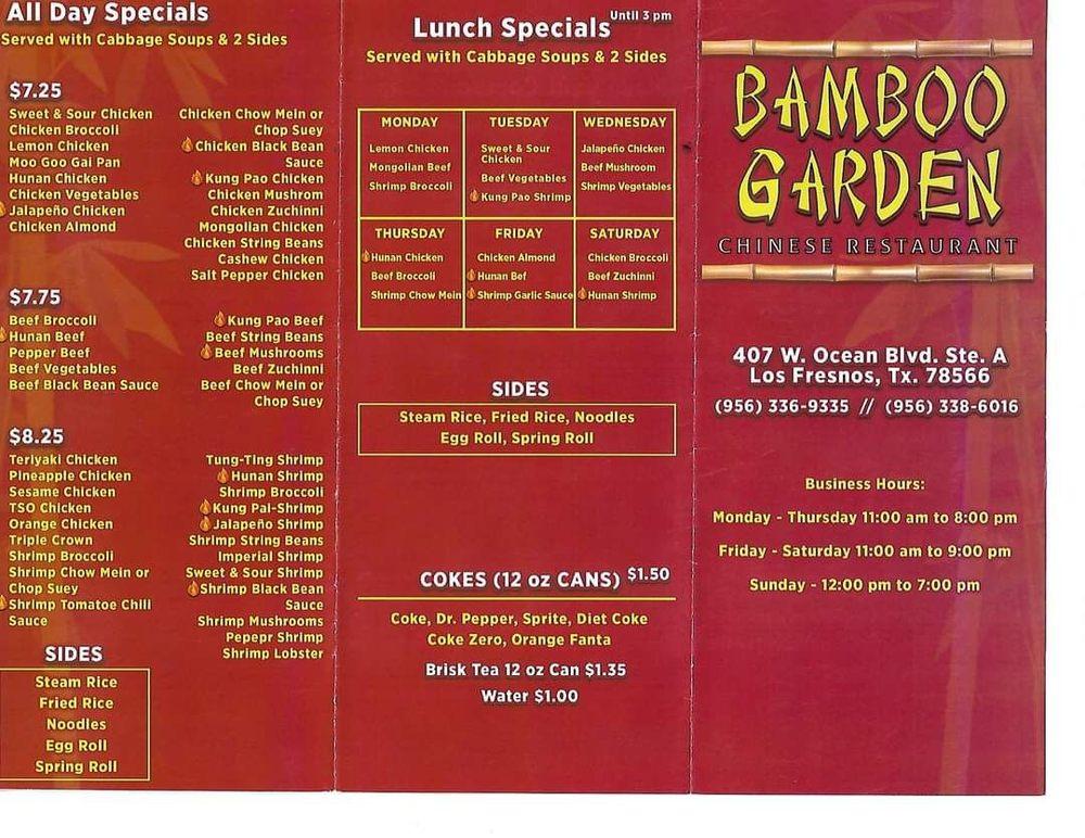 Bamboo Garden Chinese Restaurant: 407 W Ocean Blvd, Los Fresnos, TX