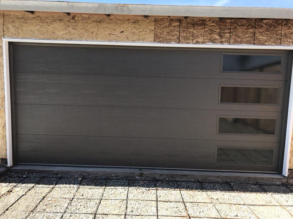 Photo of North Cal Garage Doors - Pittsburg CA United States. 16X7 Modern & 16X7 Modern Insulated Steel back Door - Yelp