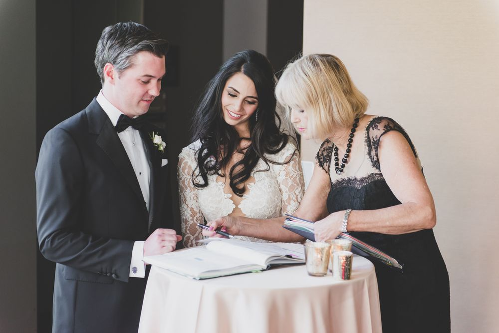 Officiant Sarah Bunnett-Gibson: 545 Logan Avenue, Toronto, ON