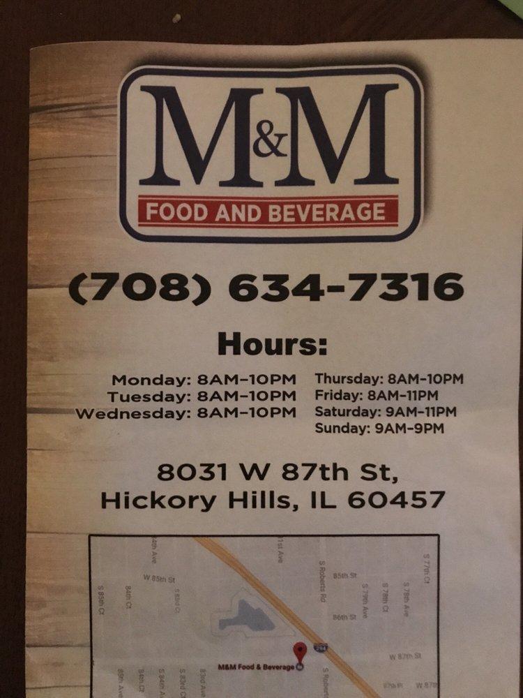 M&M Food & Beverage: 8031 W 87th St, Hickory Hills, IL