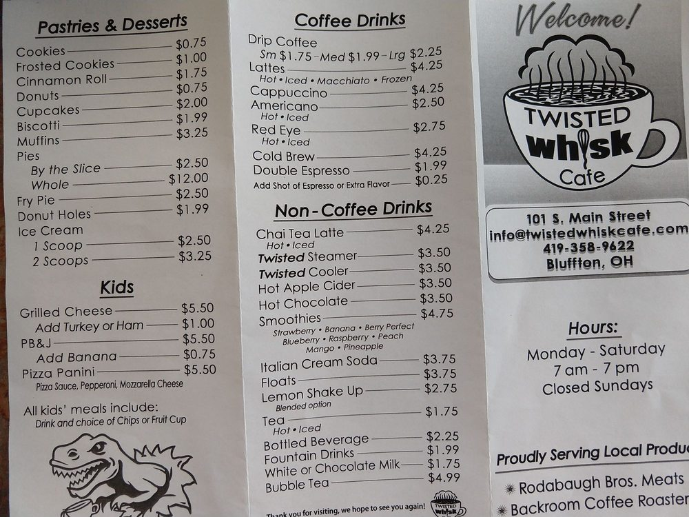 Twisted Whisk Cafe: 101 S Main St, Bluffton, OH