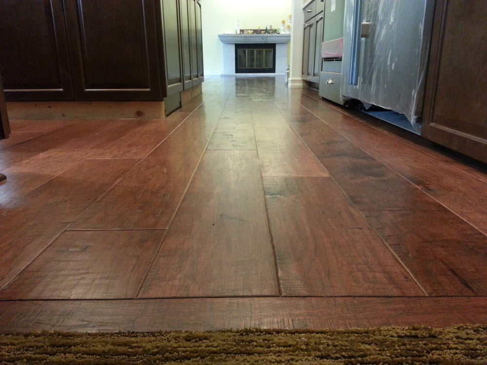 This Is A Distressed Wide Plank Hickory Floor Very