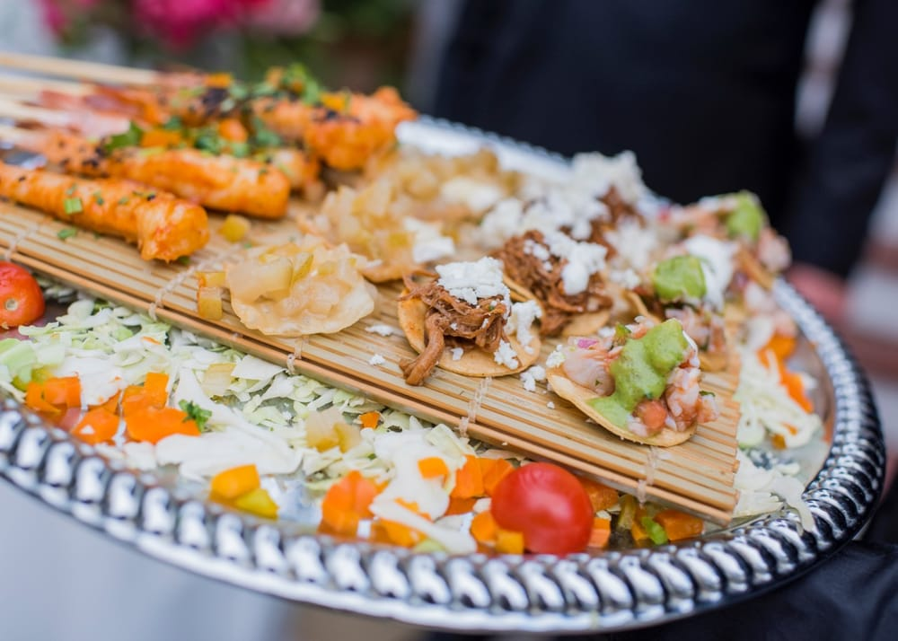 Appetizers At Wedding Reception Photo By Willa Kveta Photography