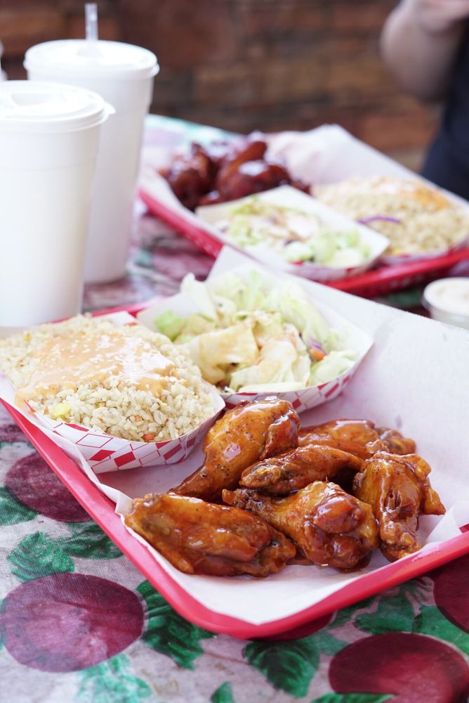 Food from Wings & Rice
