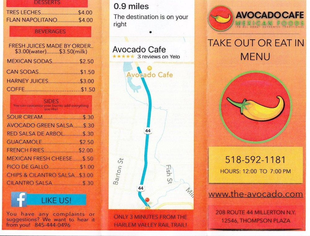 Avocado Cafe: 208 Rte 44, Millerton, NY